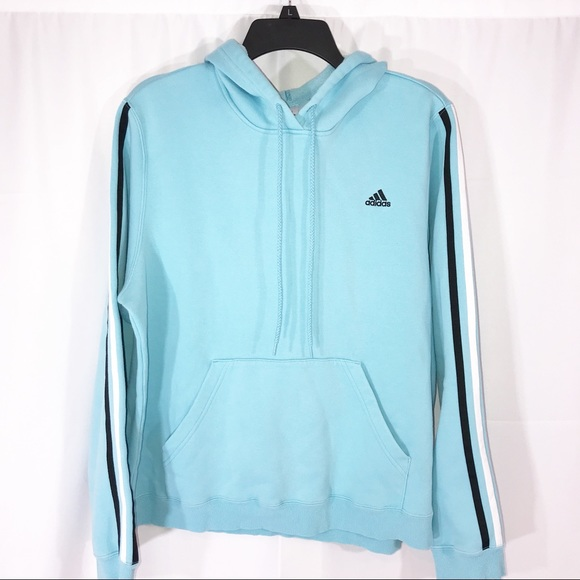 adidas Tops - Adidas XL Baby Blue Hoodie Women s 1827f6d102